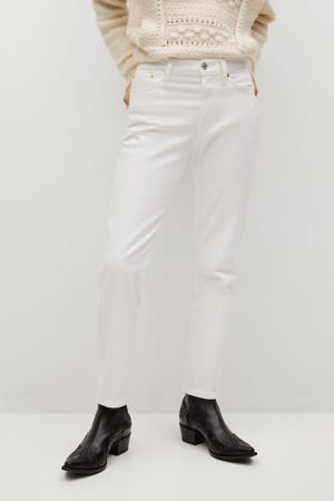 cropped straight fit jeans wit