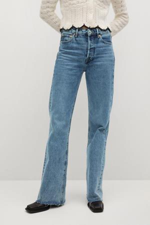 high waist loose fit jeans light blue