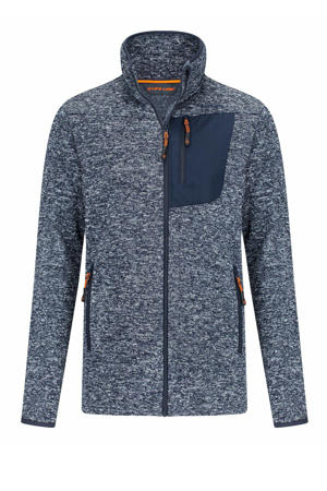 outdoor vest Protero blauw melange