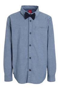 s.Oliver overhemd met all over print blauw, Blauw