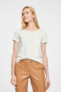 comma T-shirt wit, Wit