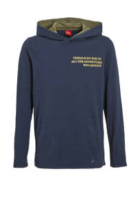 s.Oliver hoodie met tekst donkerblauw, Donkerblauw