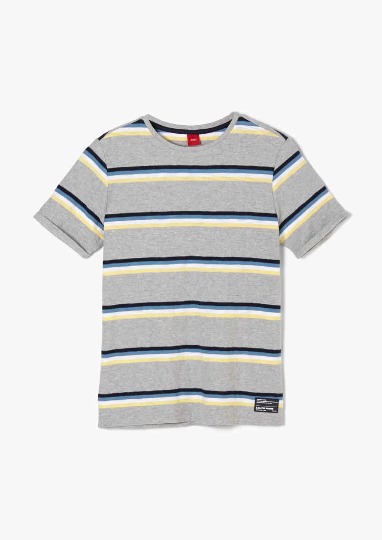 s.Oliver gestreept T-shirt grijs/blauw, Grijs/blauw