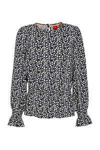 s.Oliver blouse met all over print blauw, Blauw