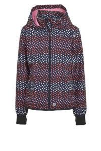 s.Oliver softshell jas tussen met hartjes blauw/roze, Blauw/roze