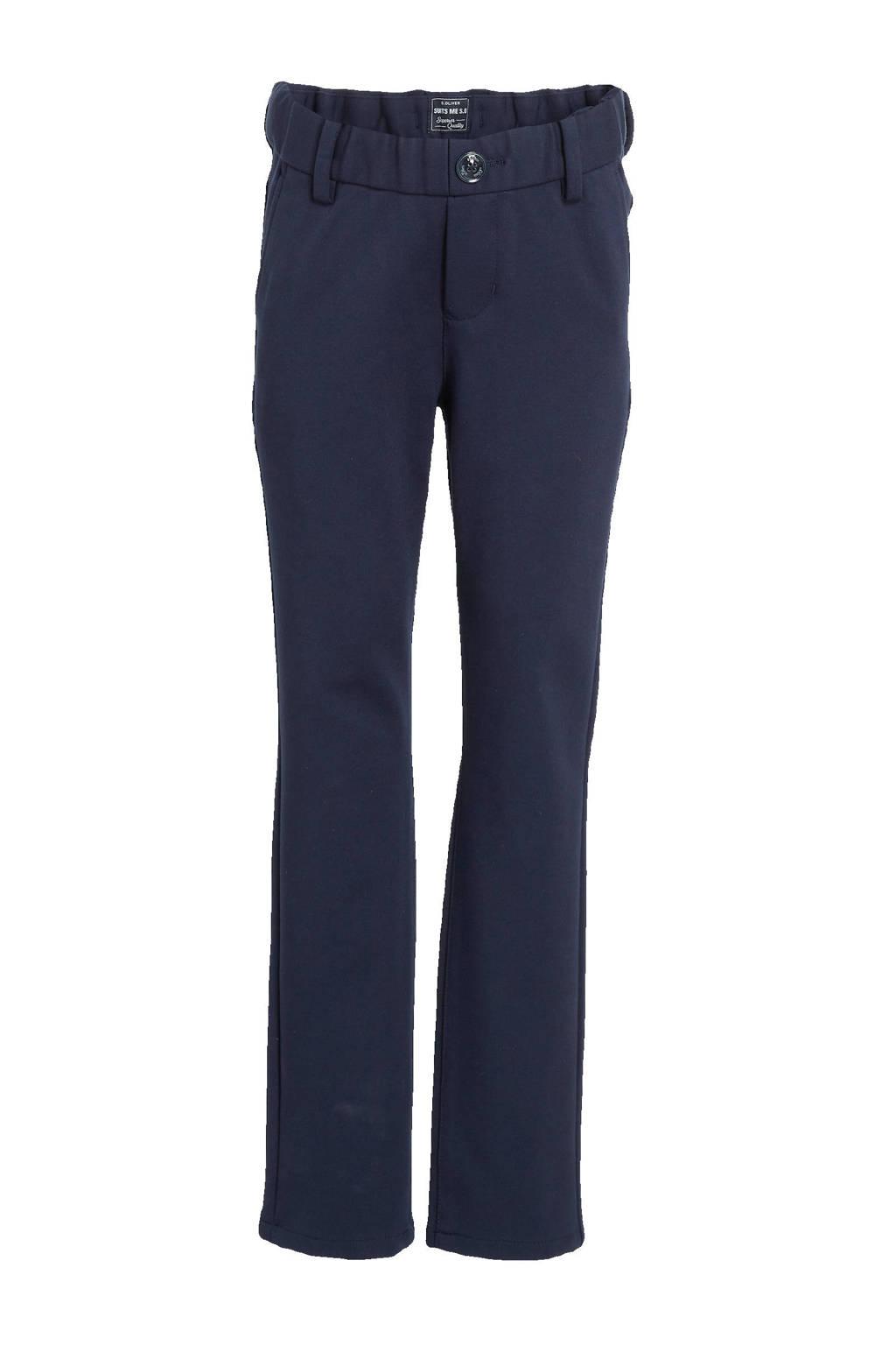 s.Oliver slim fit broek donkerblauw, Donkerblauw
