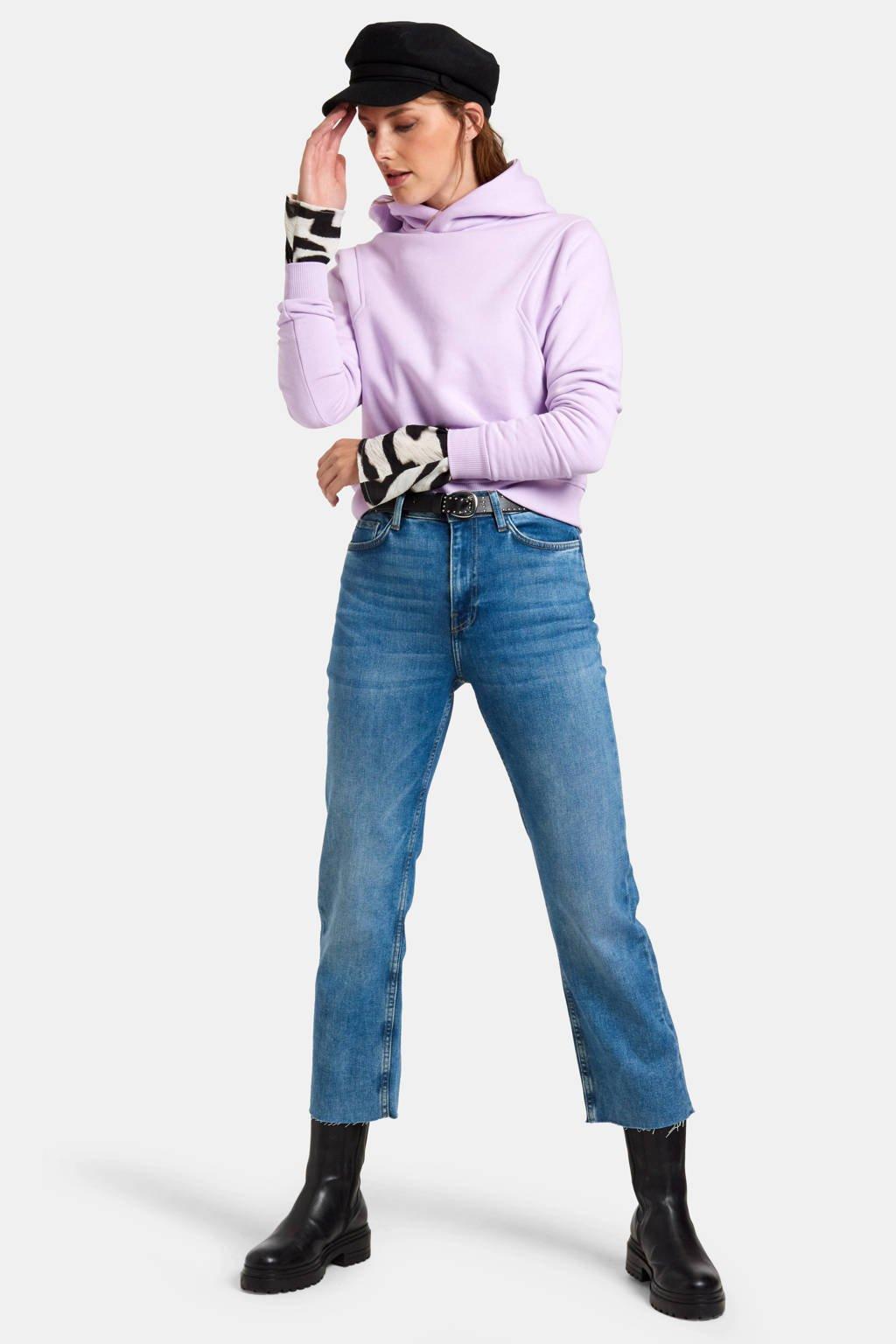 Eksept by Shoeby high waist regular fit jeans Julia straight mediumstone, MEDIUMSTONE