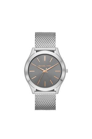 horloge MK8656 Outlet Slim Runway Zilver