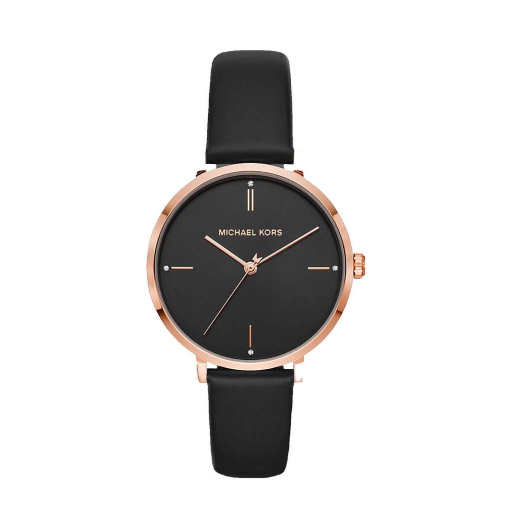 Michael Kors horloge MK7101 Mfo Jayne Rosé, Zwart
