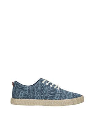 canvas sneakers blauw