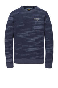PME Legend gemêleerde sweater donkerblauw, Donkerblauw