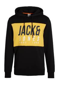JACK & JONES CORE hoodie Jonah met logo zwart, Zwart