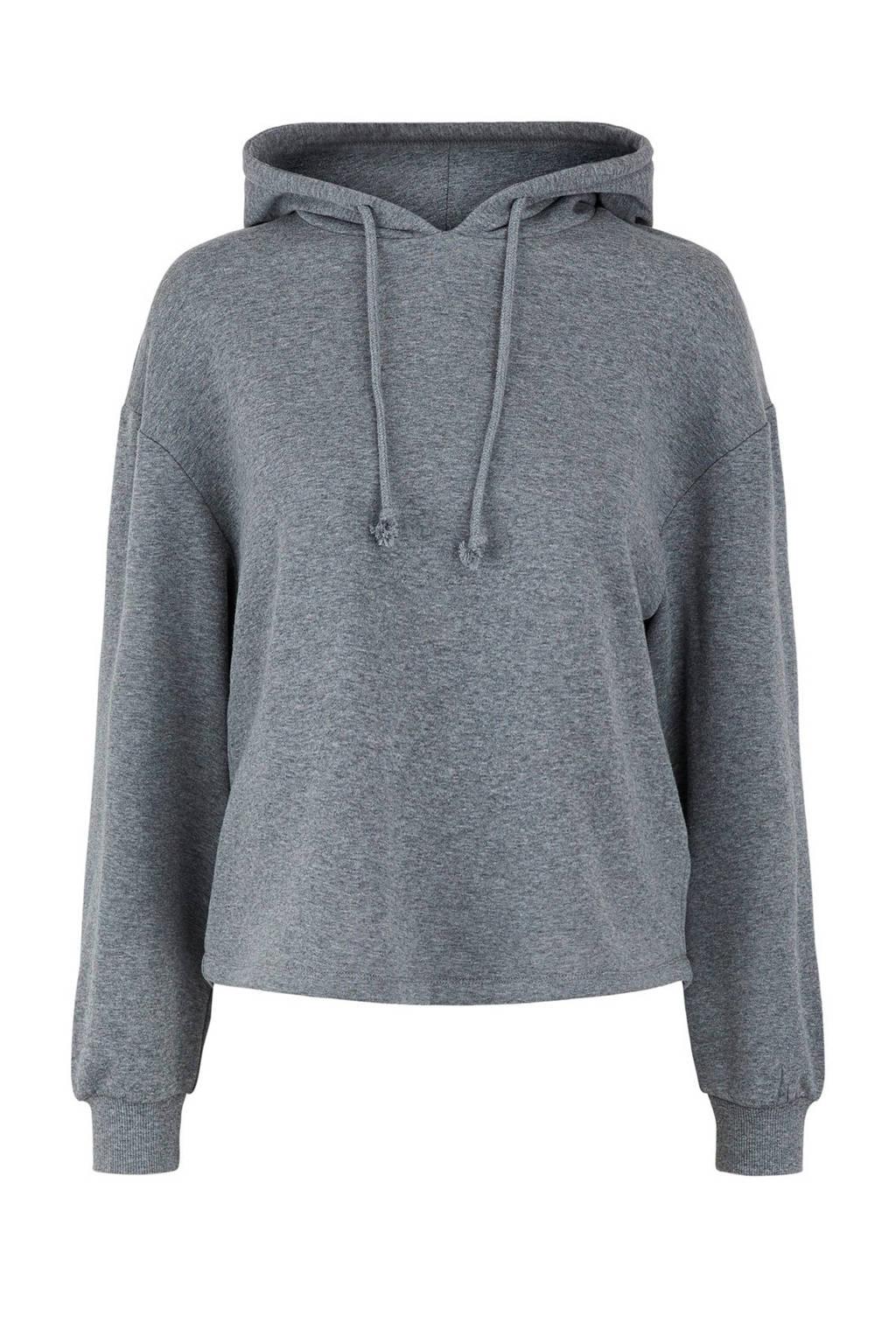 PIECES hoodie Chilli met capuchon grijs, Donkergrijs