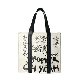shopper ecru/zwart