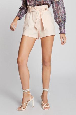 high waist short licht roze