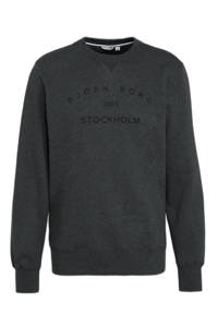 Björn Borg   sportsweater Sthlm Crew antraciet melange, Antraciet melange