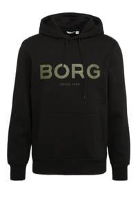 Björn Borg   sporthoodie zwart/groen, Zwart/groen