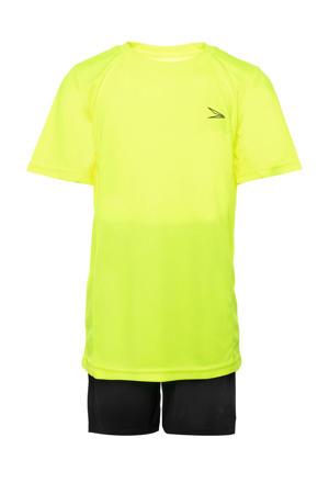 Junior  voetbalset geel/zwart