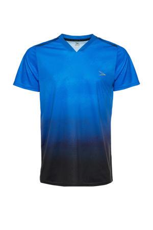 Senior  voetbalshirt blauw/zwart