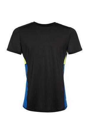 hardloopshirt zwart/blauw