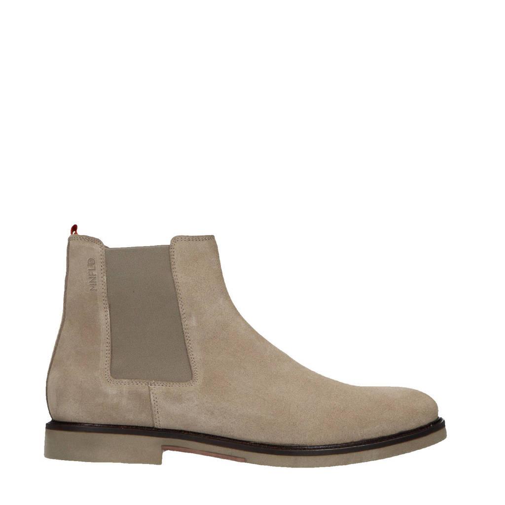 Manfield   suède chelsea boots beige, Beige