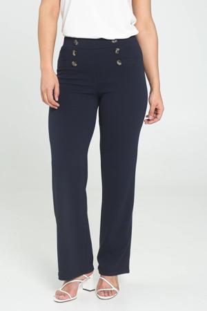 high waist loose fit broek marine