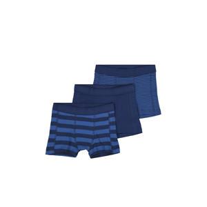 boxershort - set van 3 streep blauw