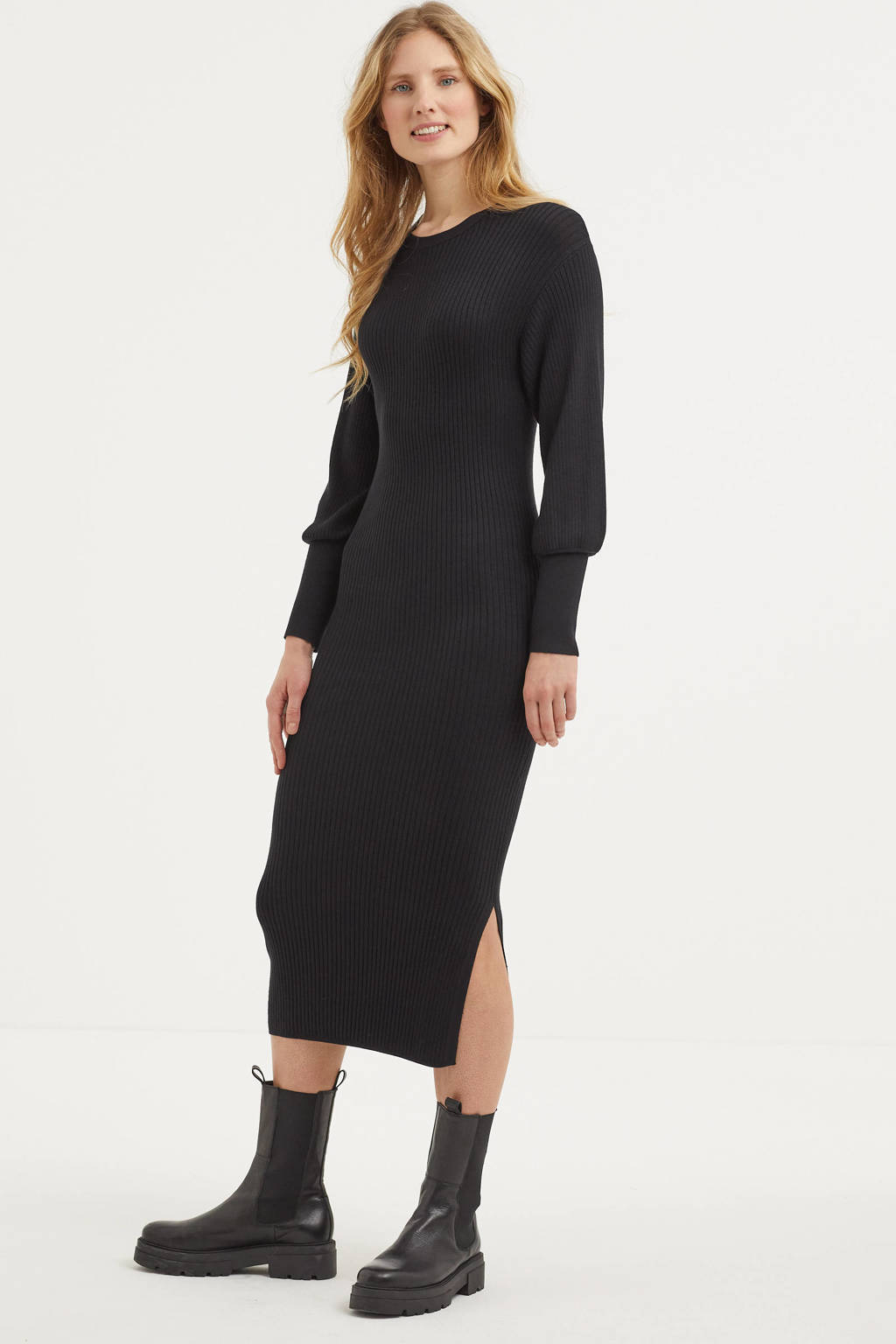 Inwear gebreide maxi jurk Linn zwart, Zwart