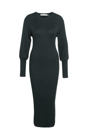 gebreide maxi jurk Linn zwart