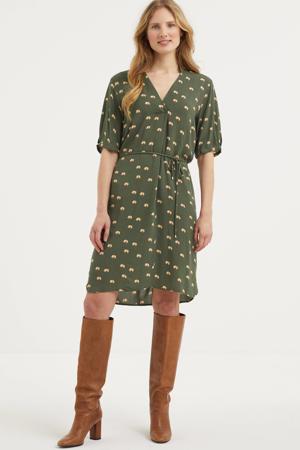 gestreepte jurk Viksa groen