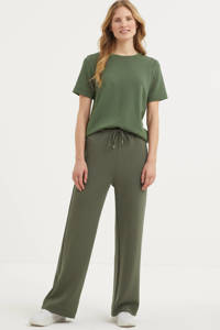 Inwear high waist straight fit broek Vincent groen, Groen