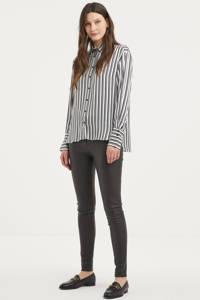 Inwear gestreepte blouse Pauline zwart/wit, Zwart/wit