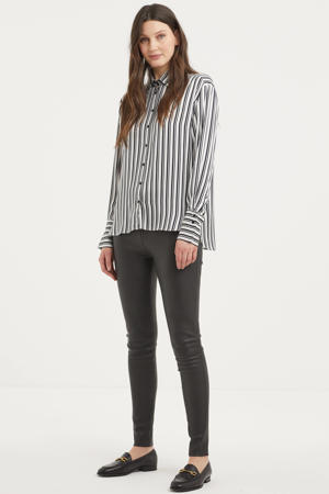 gestreepte blouse Pauline zwart/wit