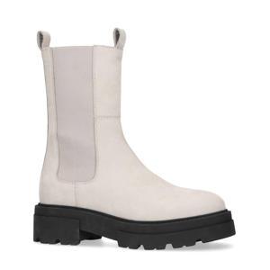 hoge nubuck chelsea boots off white