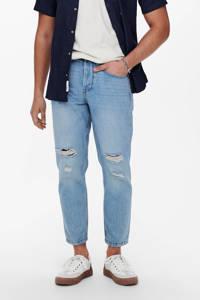 ONLY & SONS tapered fit jeans Avi Beam Life crop blue denim, Blue denim