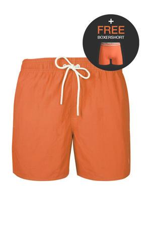 zwemshort + gratis boxershort oranje