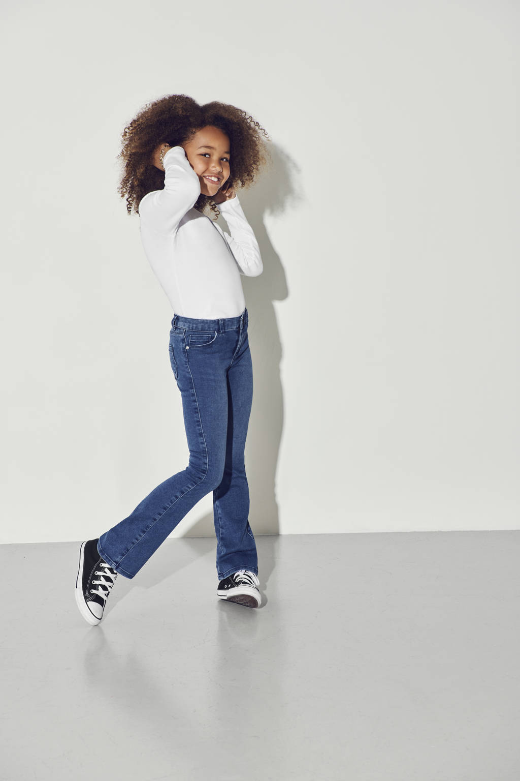KIDS ONLY high waist flared jeans KONROYAL stonewashed, Stonewashed