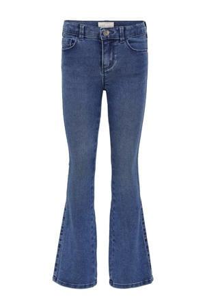 high waist flared jeans KONROYAL stonewashed