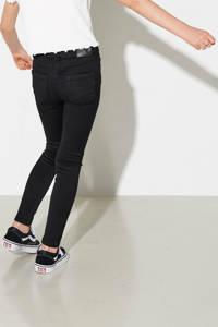KIDS ONLY low waist skinny jeans Royal met biologisch katoen zwart, Zwart