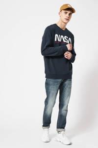 America Today sweater met printopdruk donkerblauw, Donkerblauw