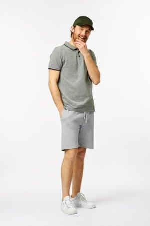 gemêleerde regular fit sweatshort LONG BEACH grijs melange