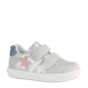 sneakers met glitters zilver