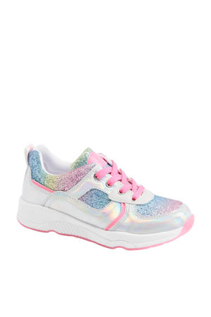sneakers met glitters metallic/multi