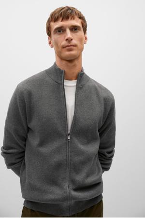 vest met wol grijs