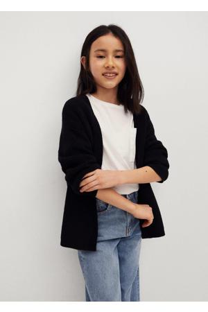 vest van gerecycled polyester zwart