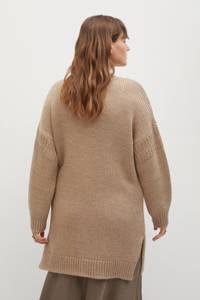Violeta by Mango grofgebreide trui beige, Beige