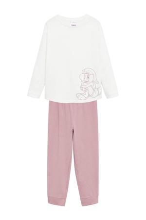 pyjama Lola Bunny van biologisch katoen roze/wit