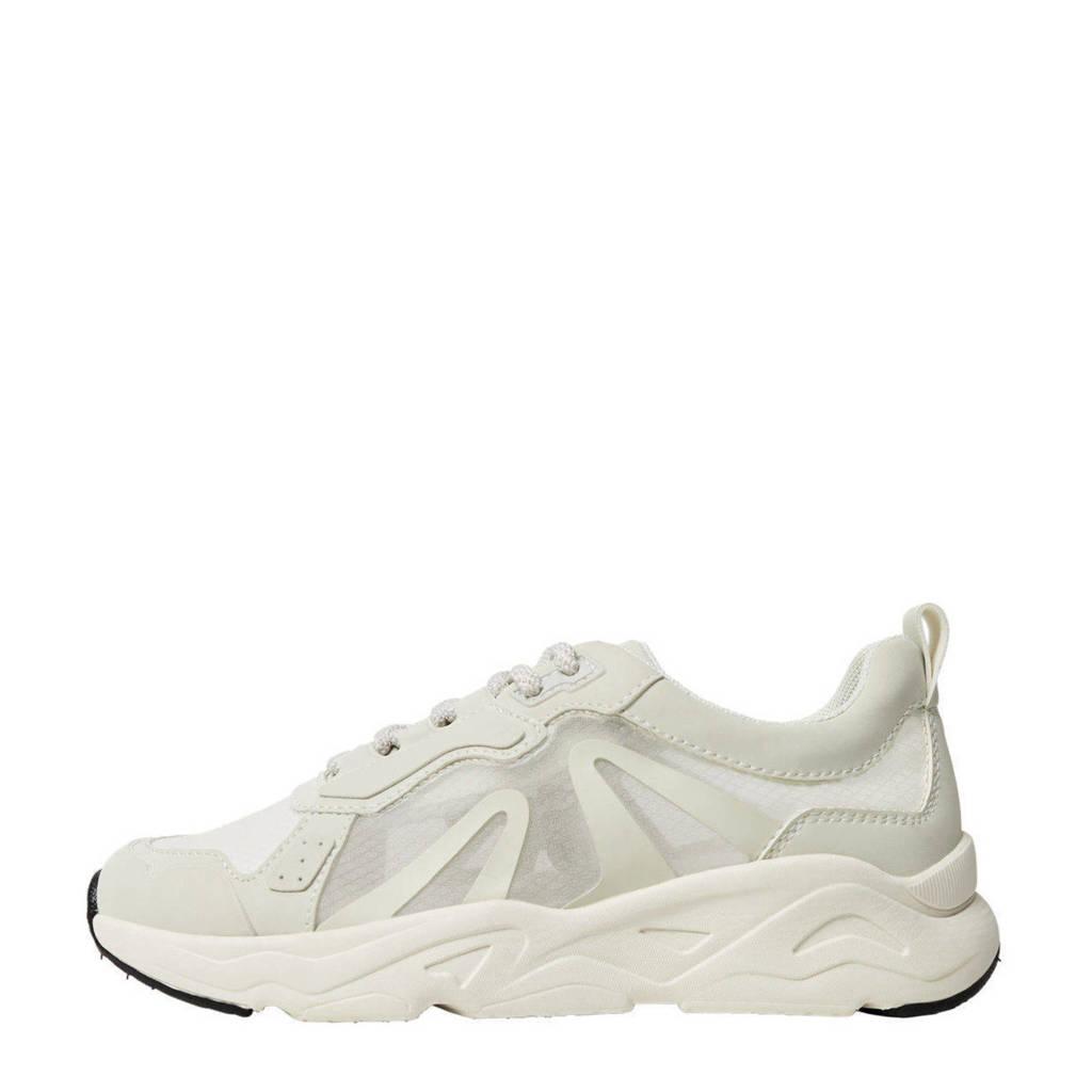 Mango   sneakers met transparante panden wit, Wit