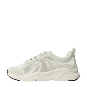 sneakers met transparante panden wit