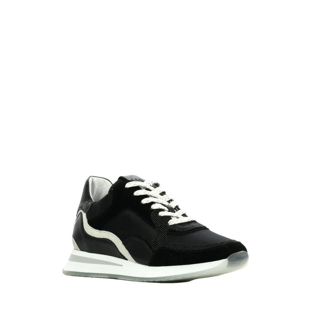 Via Vai 5607017  leren sneakers zwart, Zwart